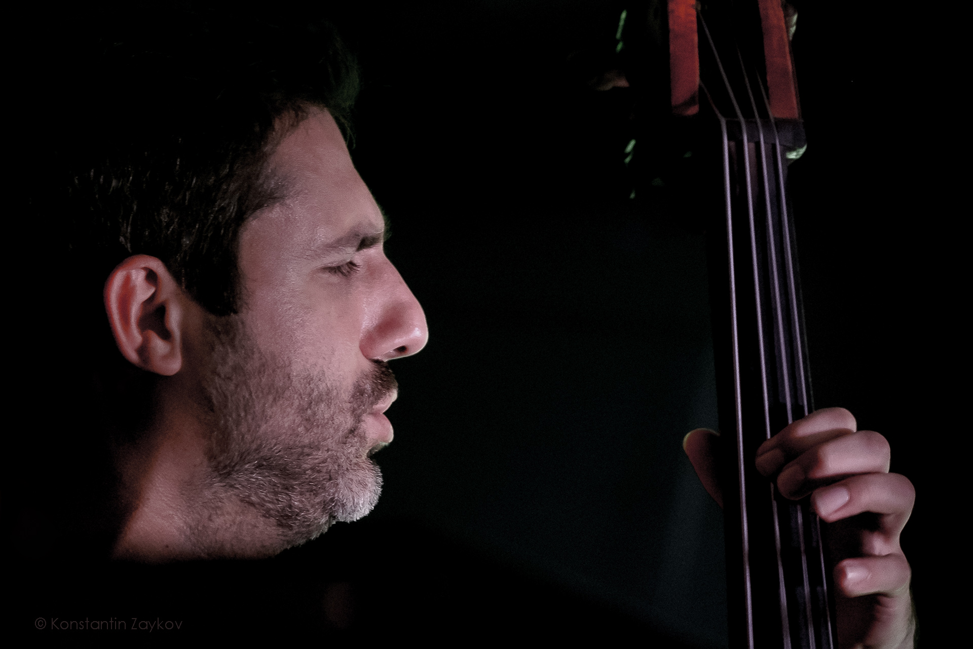 Dimitar Karamfilov during a jazz concert in Burgas, Bulgaria in 2019
